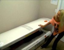 Hot Blonde Tanning Bed Scare