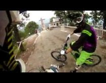 DownHill city biking Taxco 2012 like a video game, Mexico
