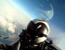 Vaizdas iš F18 lėktuvo su GoPro kamera