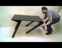 Coffe table transforms into normal table