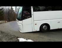 Fail - Coach/Bus drives down a hill