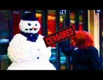 Sniego senis gąsdina praeivius