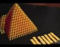 3D Domino pyramid