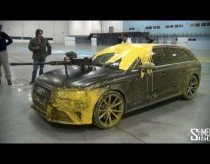 Audi RS4 AVANT NEW 2013 Paintball Fight Amazing Ad