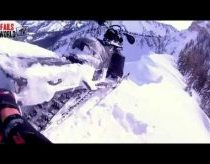 Snowmobile almost falls off cliff AMAZING SAVE (MUST WATCH).