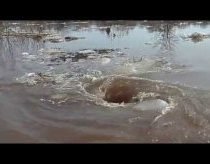 Amazing monstrous whirlpool in Latvia