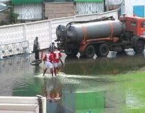 Football in sewerage - only in Kazahstan