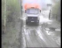 Atlekia liepsnojantis sunkvežimis - Rusija