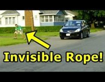 Funny Pranks - Invisible Rope Prank