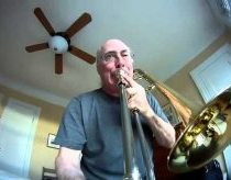 Trombone Silliness with GoPro camera