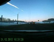 Meteorite fall filmed in Cheliabinsk in Russia