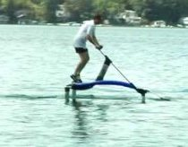 Human powered hydrofoil (pumpbike, aquabike)