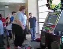 fat kid on dance machine