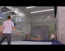 Quadrocopter radio bangomis valdomas sraigtasparnis žongliruoja kamuoliukais