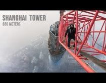 Shanghai Tower (650 meters) - two guys climbing and exploring