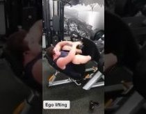 Guy farts alot while lifting