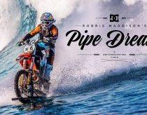 Enduro motociklas pritaikytas važiuoti vandeniu