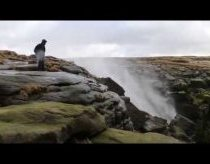 Waterfall Blown Back Up By High Winds