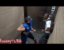 Mortal kombat - pokštas lifte