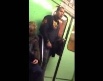 Gipsy guy stealing iPhone on hungarian metro / subway