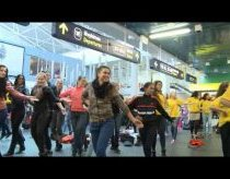 Flash mob Vilnius air port