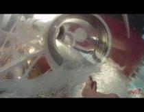 Permatoma vandens čiuožykla kruiziniame laive