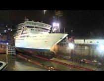 Kruizinio laivo timelapse (fotofilmas) - kruizinio laivo prailginimas
