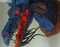 Drakono galva iš popieriaus - įspūdinga