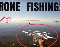 Su dronu pagauta žuvis