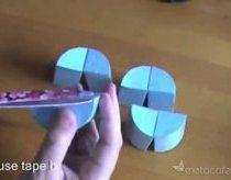 Keistas popierinis cilindras - kaip pasidaryti
