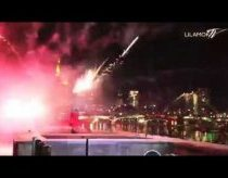 Fireworks on foot - New year breakdance
