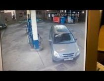 Woman cant find her petrol cap