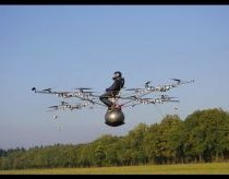 World's first manned flight with an electric multicopter (HD 720p)