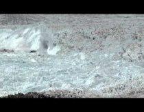 Ledo gabalas atskilo ir apsivertė - tai didžiausias kada nors nufilmuotas ledas