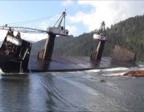 Barge Dumps Massive Load
