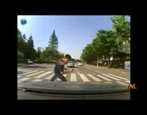 An attempt of pedestrian to make compensation from accident