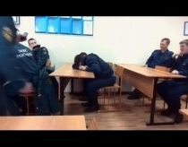Fireman sleeps during a lesson - teacher tries to test him
