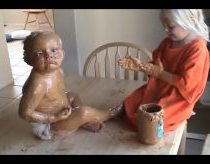 FUNNY THINGS BABIES DO Peanut butter