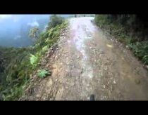 POV of bike base jump off cliff road!