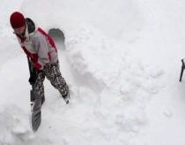 Sniego Fortas savo kieme