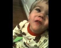 Frustrated Baby wanted to say FISH but got FU*K