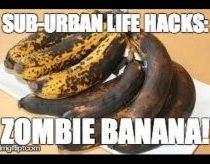 Pasenęs bananas padaromas vėl valgomu