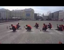 Russian Construction Workers Make Beautiful Music With Axes