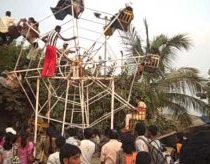 Human powered ferris wheel in India