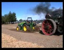 John Deere Tractor vs. 1800s Steam Tractor
