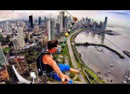 Bene aukščiausias pasaulyje nusileidimas lynu (su parašiutu)