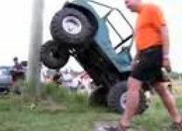 Jeep Willys vs. telephone pole
