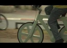 Man makes bike out of cardboard