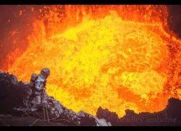 Kaip atrodo veikiantis vulkanas iš arti
