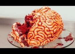 How To Make A WALKING DEAD BRAIN... cake!